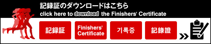 記録証のダウンロードはこちら click here to download the Finishers' Certificate